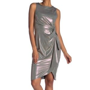Superfoxx Shine Knot Side Sleeveless Dress